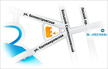 Карта проезда к БЦ РАДУГА