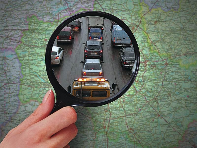GPS - трекер, карта