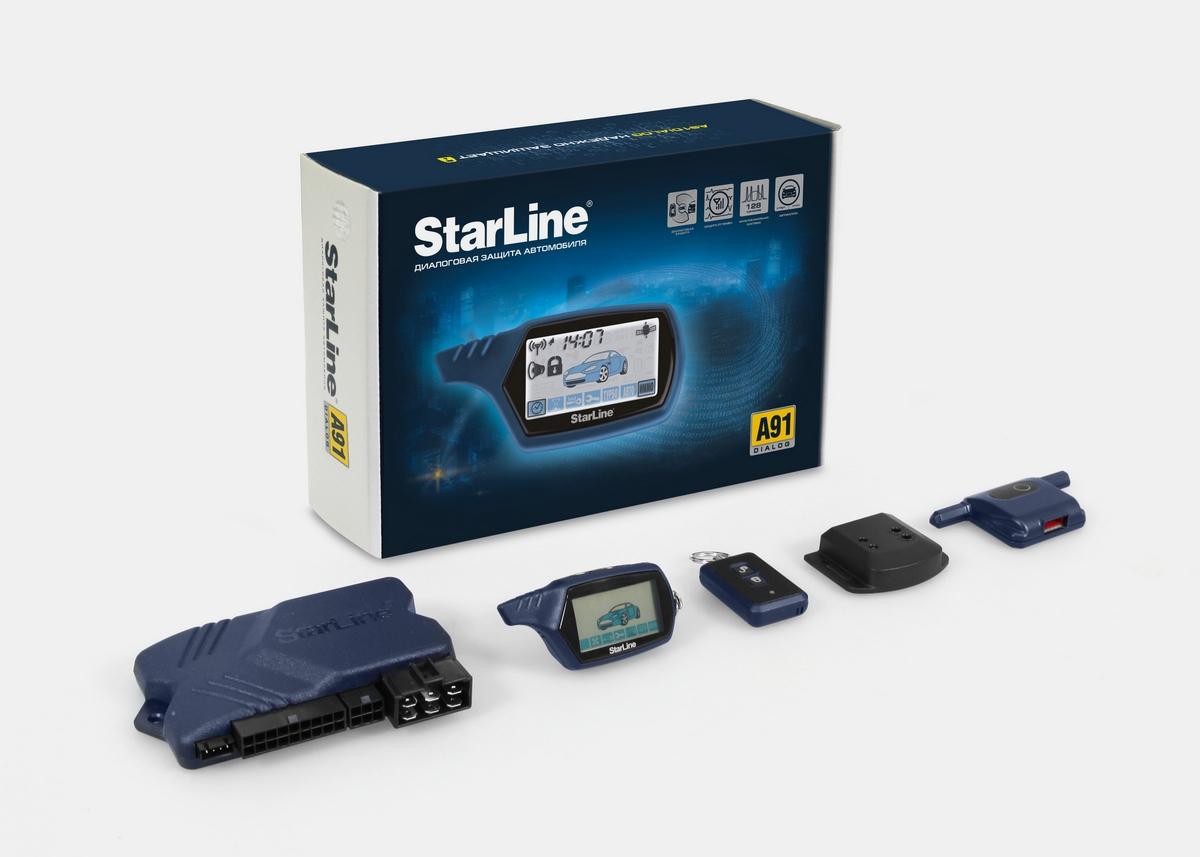 Комплектация сигнализации StarLine a91