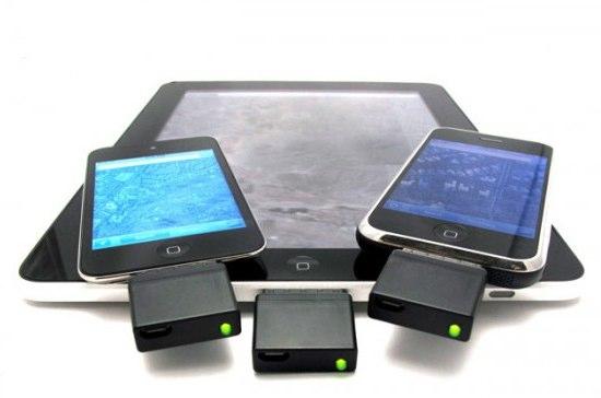 Внешние GPS-приемники подключенные к переносным устройствам