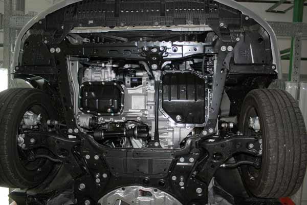 Toyota Corolla без защиты картера