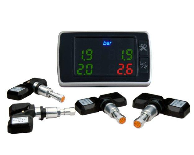 Система контроля температуры и давления в шинах с внутренними датчиками